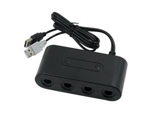 Game Cube Controllers Adapter 3 in 1 GC Gamepad Adapter for N-Switch/Wii U/PC 4-Port