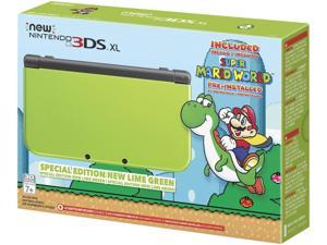 Nintendo New 3DS XL Special Edition: Lime Green with Super Mario World