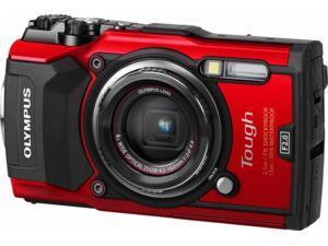 Olympus - Tough TG-5 12.0-Megapixel Water-Resistant Digital Camera - Red TG5
