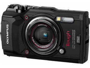 Olympus - Tough TG-5 12.0-Megapixel Water-Resistant Digital Camera - Black