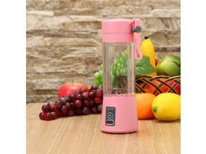Portable USB Blender, Personal Travel Blender 380ml/13oz, Rechargeable Mini Juicer Blender with Charge Cable Travel Cup for Shake, Smoothie and Baby Food
