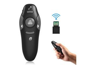 2.4GHz Wireless Exquisite Portable USB PowerPoint Presenter RF Remote Control Red Laser Pointer Pen Plug and Play