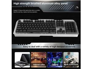 GAMEDIAS V1 Game Luminous Wired USB mouse and keyboard wired mouse and keyboard combo(SILVER)
