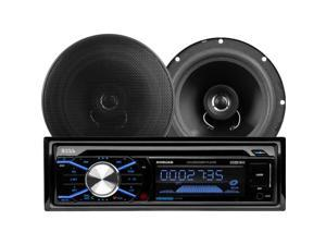 "BOSS Audio 656BCK 508UAB CD/MP3 AM/FM Receiver With USB and SD Memory Card Ports Plus one Pair of 6.5"" Speakers"