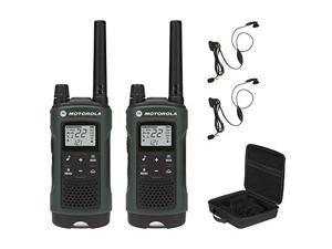 Motorola Talkabout T465 Rechargeable Two-Way Radio Bundle, 2-Pack