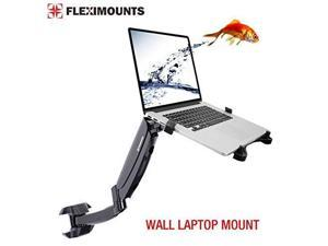 FLEXIMOUNTS M10 laptop wall Mount 2 in 1 LCD arm for most 11-17.3 inch laptop, notebook tray included or 10-24 inch computer LCDs ,Swing Gas Spring Monitor arm for dental clinic