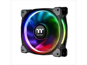 Thermaltake Riing Plus 12 RGB Single Fan Pack Controller Required 120mm Software Enabled Circular 12 Controllable LED RGB Ring Case/Radiator Fan CL-F059-PL12SW-A