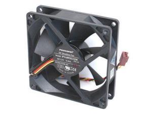 Foxconn PVA092G12M DC12 Volt 0.24 Amp, Rear Case Brushless Cooling Fan 92mm x 92mm x 25mm, 3-WIRE/3-PIN CONNECTOR