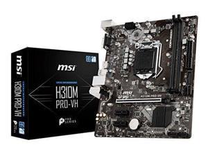 MSI Pro Series Intel Coffee Lake H310 LGA 1151 DDR4 Onboard Graphics Micro ATX Motherboard (H310M PRO-VH)