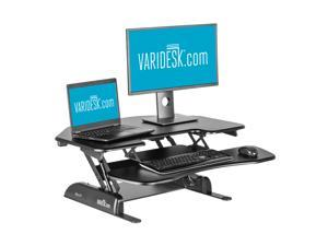 VARIDESK Cube Corner 36 Height-Adjustable Standing Desk for Cubicles