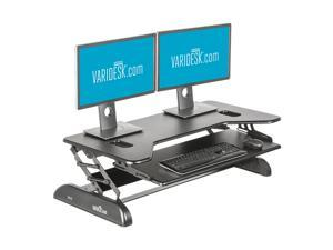 VARIDESK Cube Plus 40 Height-Adjustable Two Tier Standing Desk - Black
