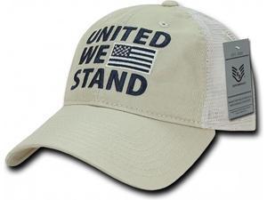 RapDom United We Stand Polo Mesh USA Flag Mens Mesh Back Cap ... 252d7956999a
