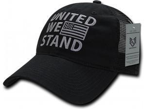 634fd9468a4 RapDom United We Stand Polo Mesh USA Flag Mens Mesh Back Cap ...