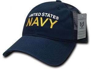 RapDom United States Navy Text Relaxed Trucker Mens Cap ... 1c3553e0da84