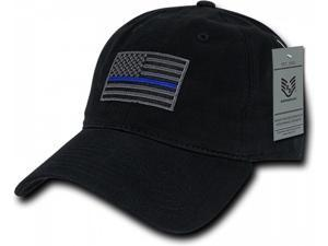 4c2620e10b002 RapDom Thin Blue Line Graphic Relaxed Mens Cap ...