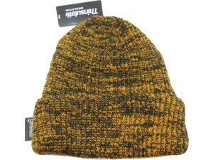 ac3205bf23f Chunky Mixed Knit Thinsulate Insulated Cuff Mens Beanie Cap ...