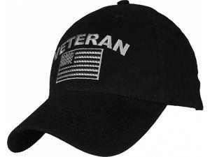 Eagle Crest Veteran w American Flag Tonal Washed Mens Cap  Black ... a9e319fe604