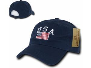 9b1c71ce7d9 RapDom USA Flag Graphic Relaxed Mens Cap  Navy ...