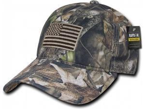 09745eb86a0 RapDom HYBRiCAM USA Flag Tactical Relaxed Mens Cap  Grey Bark Camo ...