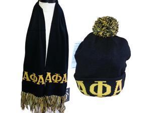 0d6762aa8dc Buffalo Dallas Alpha Phi Alpha Mens Knit Beanie Skull Cap   Scarf Set ...