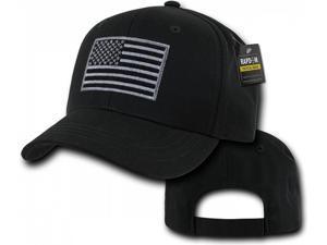 10597a1f419 RapDom USA Flag Embroidered Operator Mens Cap  Black ...