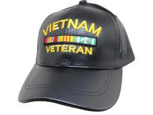 614be5e77b6 US Honor Vietnam Veteran Ribbons Leather Mens Cap ...