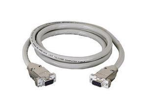 With Thumbscrews Black Box DB15 Molded Shielded Data Cable M//F 20Ft