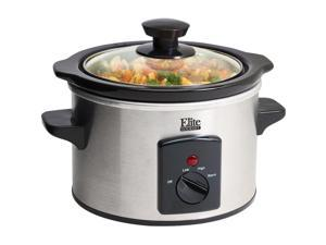 Elite 1.5Qt. Mini Slow Cooker Stainless MST-250XS