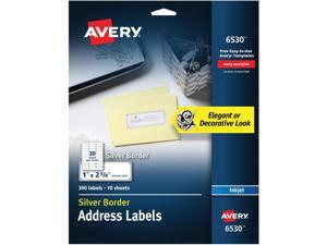 Avery&reg Easy Peel Metallic Border Address Labels