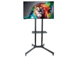 "Husky Mounts Mobile TV Stand Heavy Duty Universal Rolling TV Cart Fits Most 32"" – 70"" Inch LED LCD TVs with Shelf and Mount"