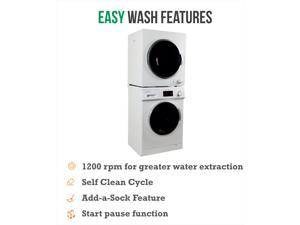EW 824 & ED 850 Stackable set of Compact Super Washer & Compact Short Dryer