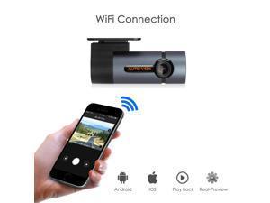 AUTO-VOX WiFi Dash Cam D6 Pro FHD 1080P Dashboard Camera Recorder Car Dash Cam with Super Night Vision,G-Sensor, WDR, Loop Recording,300°Rotate Angle