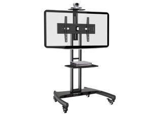 Rocelco VSTC Standard Rolling, Mobile TV Cart Mount (Black) Mobile Cart