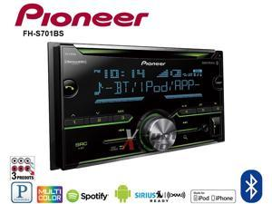 Pioneer FH-S701BS Double Din CD Receiver CD receiver with AM/FM tuner built-in Bluetooth for hands-free calling and audio streaming MIXTRAX for a DJ-inspired audio/visual experience
