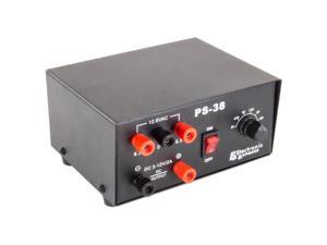 AC/DC Power Supply - 12.6VAC @ 1A, unregulated / DC output of 3,4.5,6,7.5,9,12V
