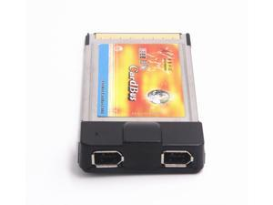 Dual IEEE 1394 Firewire 6pin to 54mm PCMCIA CardBus PC Card Adapter for Laptop Notebook