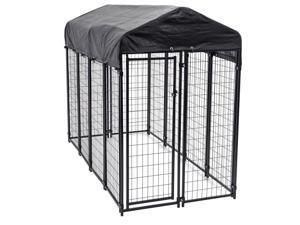 Lucky Dog Uptown Large Outdoor Covered Kennel Heavy Duty Pet Dog Cage Fence Pen