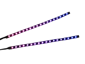 Raidmax LD-602 Dual Addressable RGB LED Light Strip for PC Gaming Computer Case with Remote Control, Magnetic and 3M Tape (Dual w/Remote)