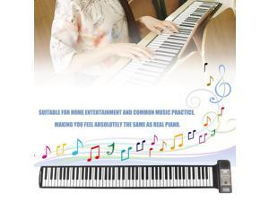 Hand Roll Up Electronic Piano Pad Built-in Speaker 88 Key Electronic Piano Keyboard Flexible Musical Instrument For Kids