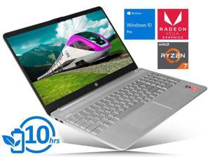 "HP 15 Notebook, 15.6"" HD Touch Display, AMD Ryzen 7 3700U Upto 4.0GHz, 8GB RAM, 256GB NVMe SSD, Vega 10, HDMI, Card Reader, Wi-Fi, Bluetooth, Windows 10 Pro"