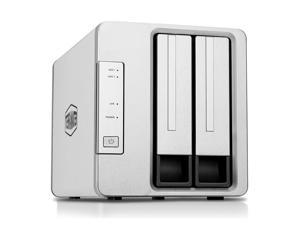 TerraMaster F2-210 2-Bay RAID 0 Diskless Network Attached Storage with Quad Core