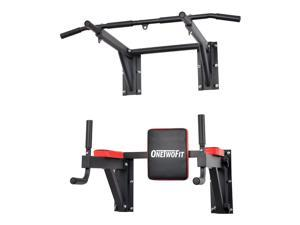91f89b939b2d OneTwoFit Multifunctional Wall Mounted Pull Up Bar Power Tower Set Chin Up  Station Home Gym Workout
