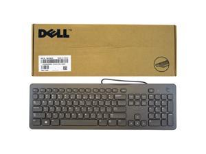 NEW Dell Slim Wired Black USB Quiet Keyboard 104-Keys KB113t - GVWNX