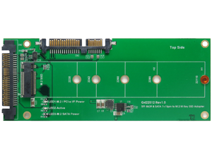 U.2 (SFF-8639) to M.2 NVMe SSD & SATA 7+15pin to M.2 (SATA I/F) SSD Adapter Support 2230 / 2242 /2260 /2280 /22110