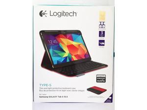 Logitech Type-S Wireless Keyboard Case for Samsung Galaxy Tab S 10.5-Bright  Red