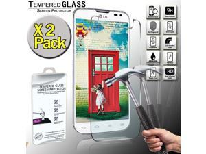 2 Pack Real Tempered Glass Screen Protector Cover For LG L70 ...