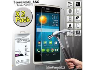 49e10af28f36 2 Pack For Acer Liquid Z500 Genuine Tempered Glass Film Screen Protector  Cover