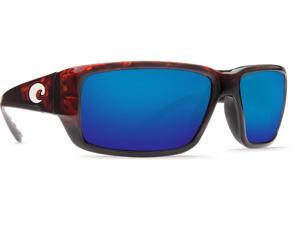 1dfb700db9 Costa Del Mar Fantail Tortoise Square Sunglasses Blue Lens 580P