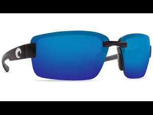ca1859f474663 Costa Del Mar Galveston Matte Black Sunglasses Blue Lens 580P