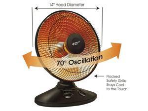 Comfort Zone Oscillating Parabolic Dish Heater
